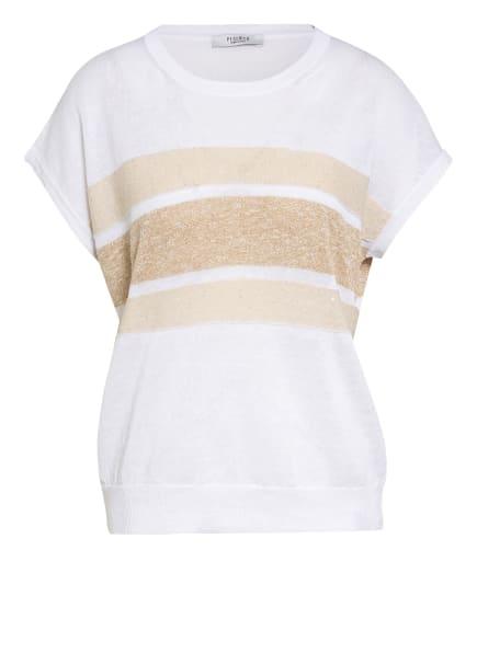 PESERICO Pullover mit Leinen, Farbe: WEISS/ BEIGE (Bild 1)