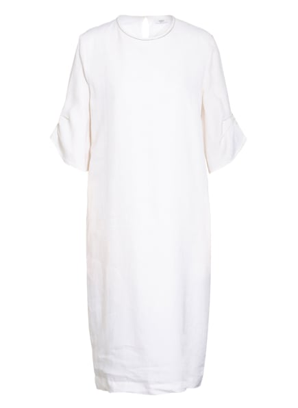 PESERICO Leinenkleid mit Schmucksteinbesatz, Farbe: CREME (Bild 1)