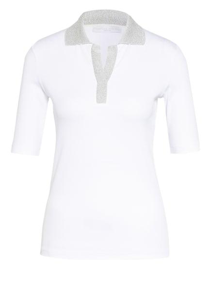 FABIANA FILIPPI Jersey-Poloshirt, Farbe: WEISS/ SILBER (Bild 1)