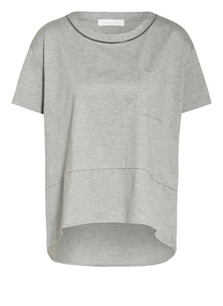FABIANA FILIPPI Blusenshirt mit Schmucksteinbesatz, Farbe: GRAU (Bild 1)