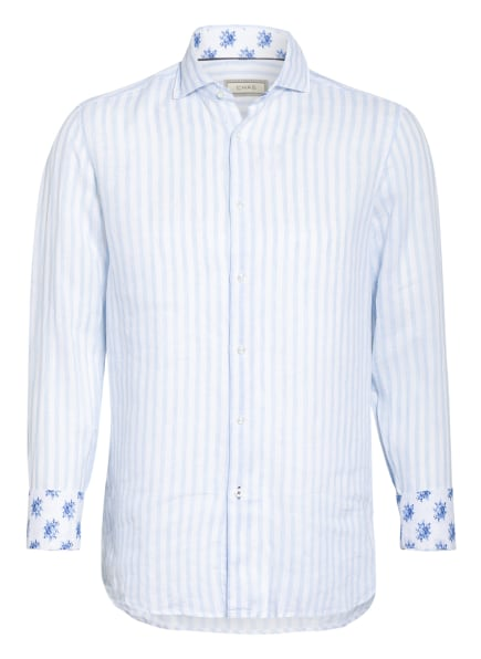 CHAS Leinenhemd Modern Fit , Farbe: HELLBLAU/ WEISS (Bild 1)