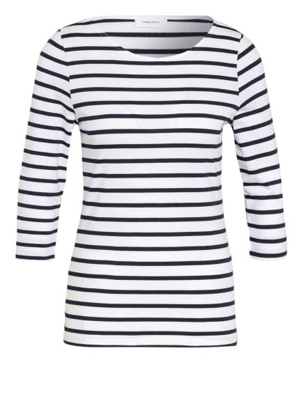darling harbour Shirt mit 3/4-Arm, Farbe: WEISS/ DUNKELBLAU (Bild 1)