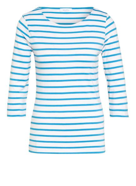 darling harbour Shirt mit 3/4-Arm, Farbe: WEISS/ TÜRKIS (Bild 1)