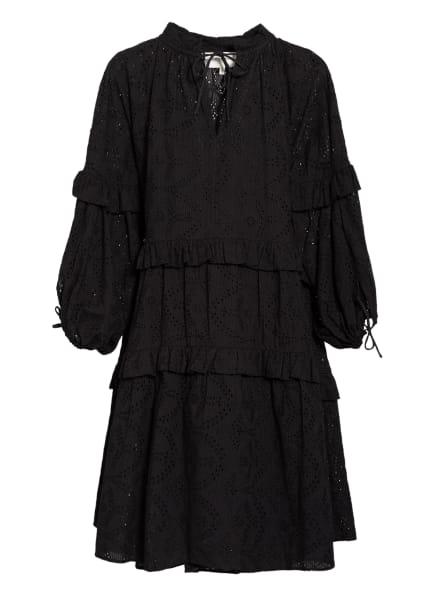 MUNTHE Kleid FRILLY aus Lochspitze, Farbe: SCHWARZ (Bild 1)