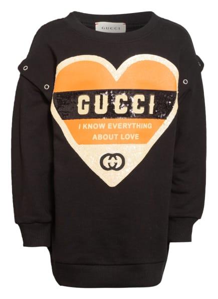 GUCCI Sweatshirt, Farbe: SCHWARZ/ DUNKELORANGE/ GOLD (Bild 1)