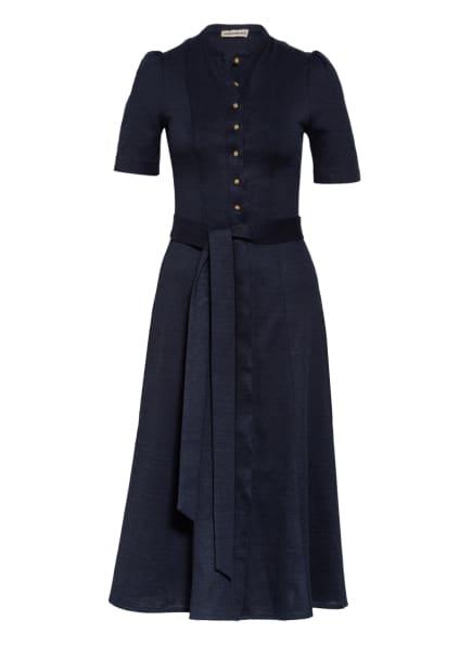 Gottseidank Kleid ROSA mit Leinen, Farbe: DUNKELBLAU/ BLAU (Bild 1)
