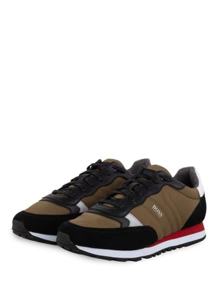 BOSS Sneaker PARKOUR RUNN, Farbe: OLIV/ SCHWARZ/ WEISS (Bild 1)