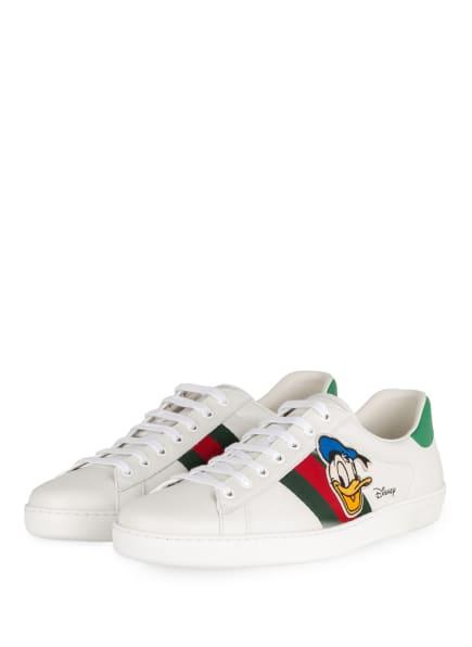 GUCCI Sneaker NEW ACE, Farbe: 9114 BIANCO/BIA/VRV/N.SHA (Bild 1)