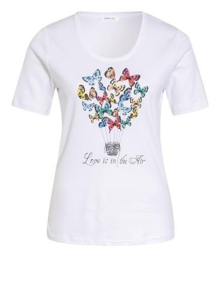 efixelle T-Shirt mit Schmucksteinbesatz, Farbe: WEISS/ GRÜN/ ROT (Bild 1)