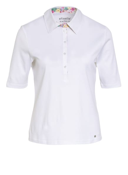 efixelle Jersey-Poloshirt, Farbe: WEISS (Bild 1)