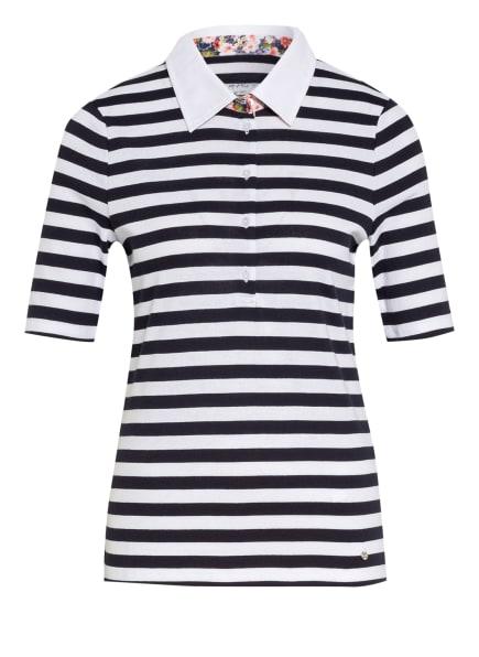 efixelle Jersey-Poloshirt, Farbe: WEISS/ DUNKELBLAU (Bild 1)