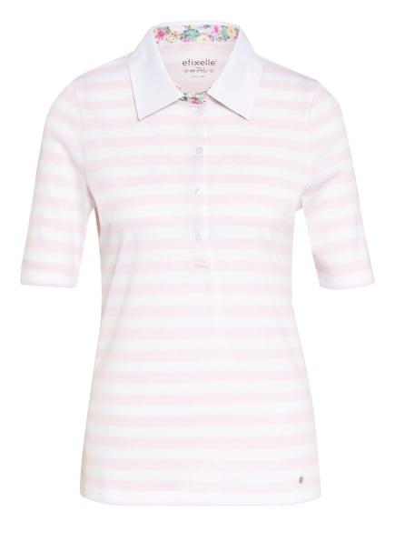 efixelle Jersey-Poloshirt, Farbe: WEISS/ HELLROSA (Bild 1)