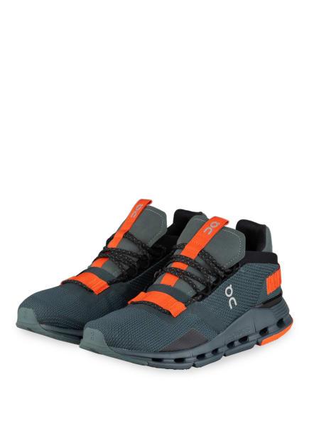 On Running Sneaker CLOUDNOVA, Farbe: PETROL/ ORANGE (Bild 1)