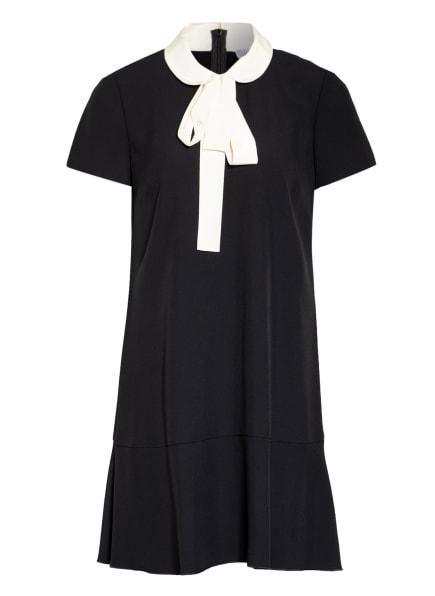 RED VALENTINO Kleid mit abnehmbarer Schluppe, Farbe: SCHWARZ/ ECRU (Bild 1)