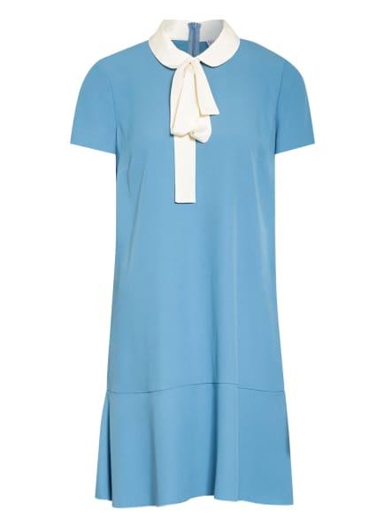 RED VALENTINO Kleid mit abnehmbarer Schluppe, Farbe: TÜRKIS/ ECRU (Bild 1)