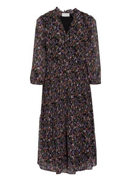 NEO NOIR Kleid HELENA mit Glitzergarn, Farbe: SCHWARZ/ LILA/ GRÜN (Bild 1)