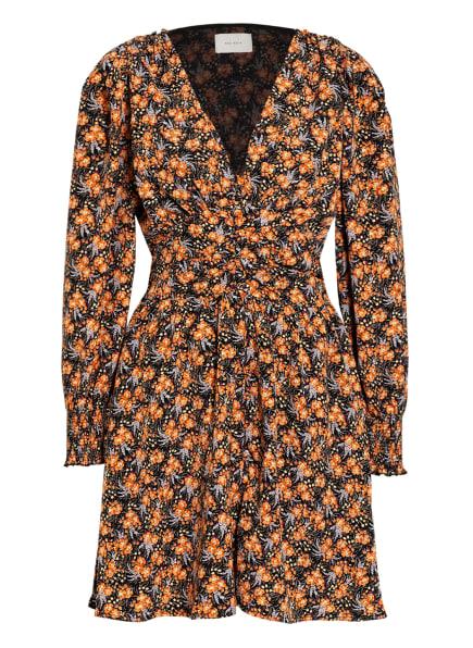 NEO NOIR Kleid LECIA, Farbe: SCHWARZ/ HELLORANGE/ HELLGRÜN (Bild 1)