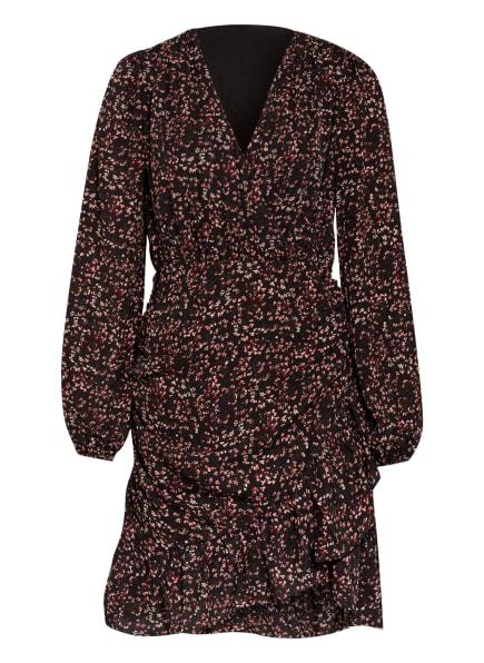 NEO NOIR Kleid VERI mit Volantbesatz, Farbe: SCHWARZ/ PINK (Bild 1)