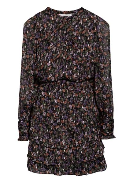 NEO NOIR Kleid BIMBA mit Glitzergarn, Farbe: SCHWARZ/ LILA/ GRÜN (Bild 1)