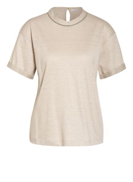 BRUNELLO CUCINELLI T-Shirt aus Leinen, Farbe: CREME (Bild 1)