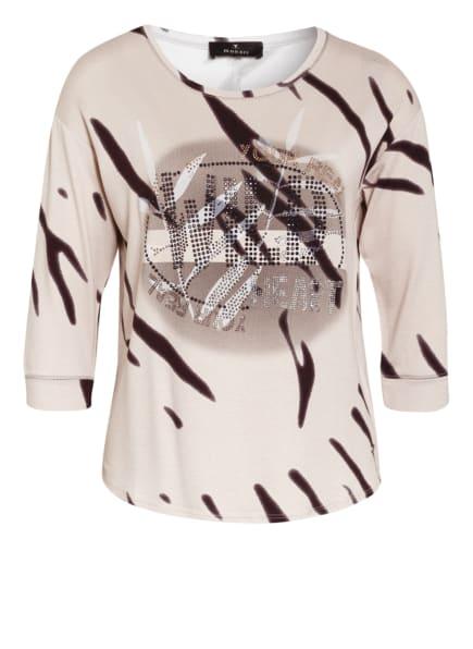 monari Shirt mit 3/4-Arm und Schmucksteinbesatz, Farbe: BEIGE/ SCHWARZ (Bild 1)