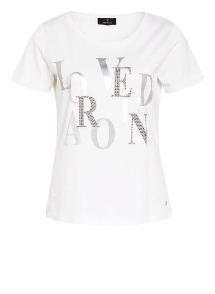 monari T-Shirt mit Schmucksteinbesatz, Farbe: WEISS/ SILBER (Bild 1)