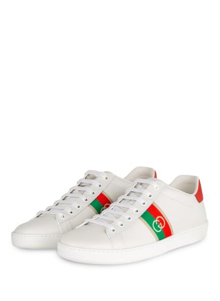 GUCCI Sneaker NEW ACE, Farbe: 9063 BIA/M.W-G-R-M-W/M.W- (Bild 1)