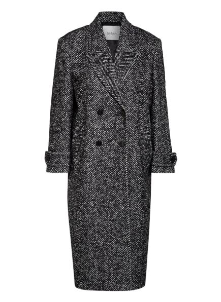 ba&sh Mantel HENRY mit Wolle, Farbe: SCHWARZ/ WEISS (Bild 1)