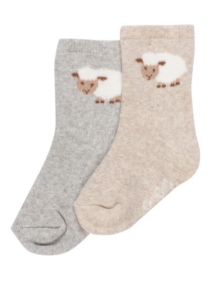 ewers COLLECTION 2er-Pack Socken , Farbe: 1 1 grau/latte (Bild 1)