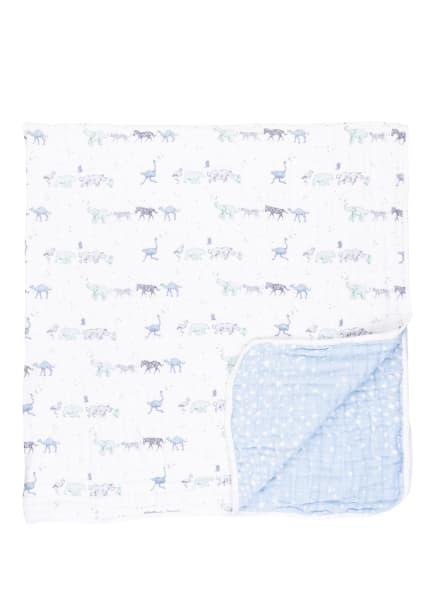 aden + anais Musselin-Plaid CLASSIC DREAM , Farbe: HELLBLAU/ WEISS (Bild 1)