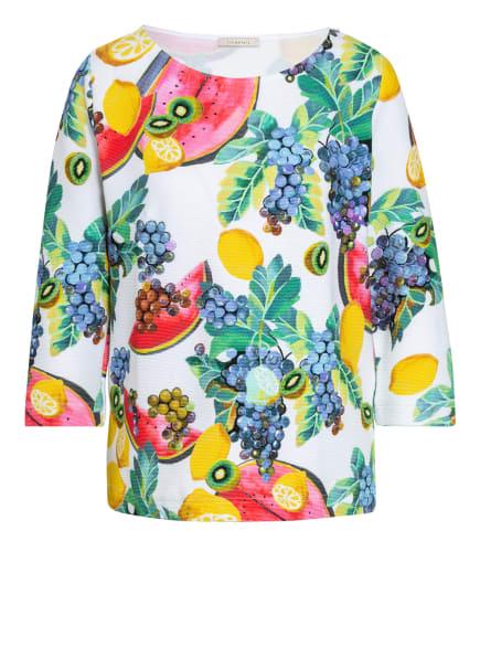 lilienfels Shirt mit 3/4-Arm, Farbe: WEISS/ GRÜN/ GELB (Bild 1)