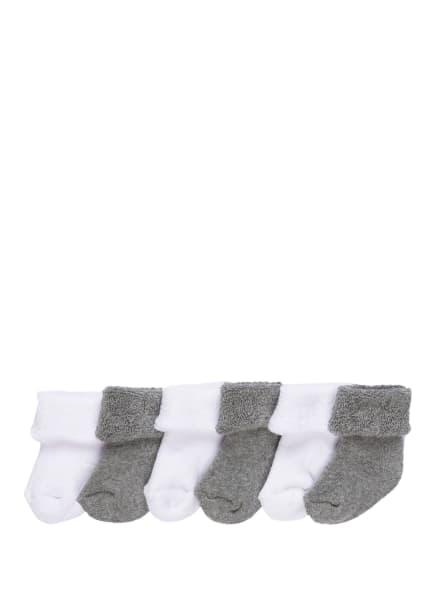 ewers COLLECTION 6er-Pack Socken, Farbe: 8010 8010 weiß & grau (Bild 1)