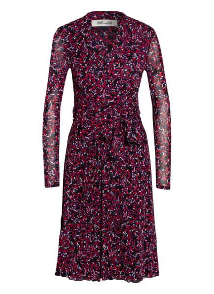 DIANE VON FURSTENBERG Kleid BRENDA in Wickeloptik, Farbe: SCHWARZ/ ROT/ WEISS (Bild 1)