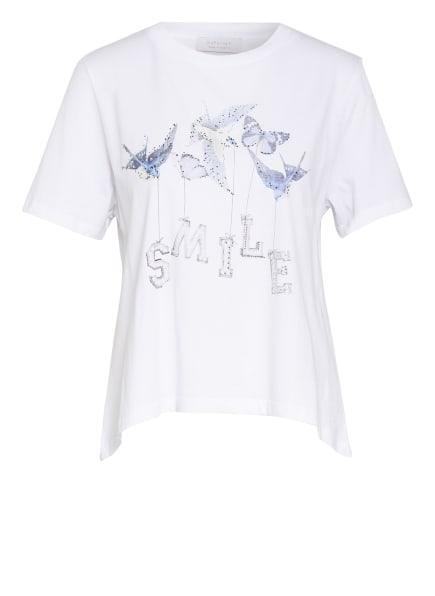 rich&royal T-Shirt mit Schmucksteinbesatz, Farbe: WEISS (Bild 1)