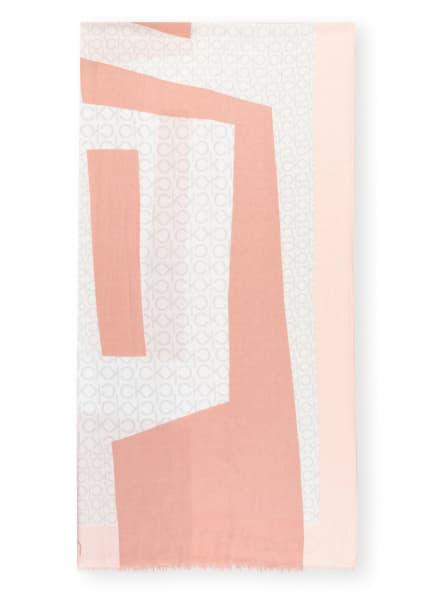 Calvin Klein Schal, Farbe: ROSÉ/ WEISS (Bild 1)