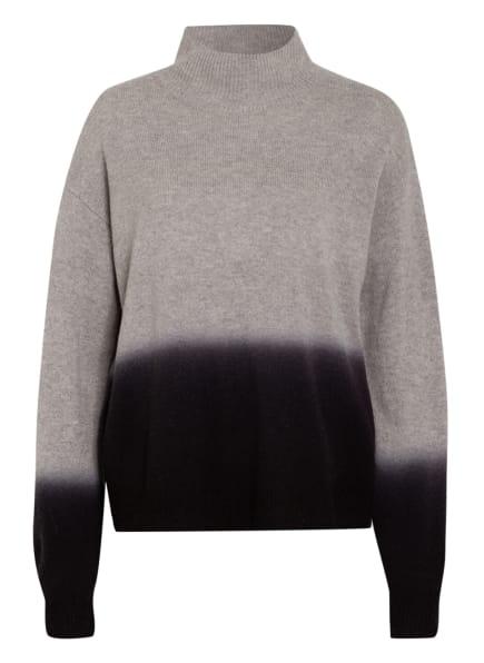 WHISTLES Pullover aus Merinowolle, Farbe: HELLGRAU/ SCHWARZ (Bild 1)
