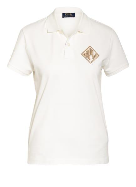 POLO RALPH LAUREN Piqué-Poloshirt, Farbe: ECRU (Bild 1)