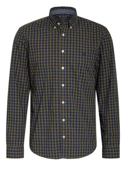 Marc O'Polo Hemd Shaped Fit, Farbe: DUNKELBLAU/ OLIV (Bild 1)
