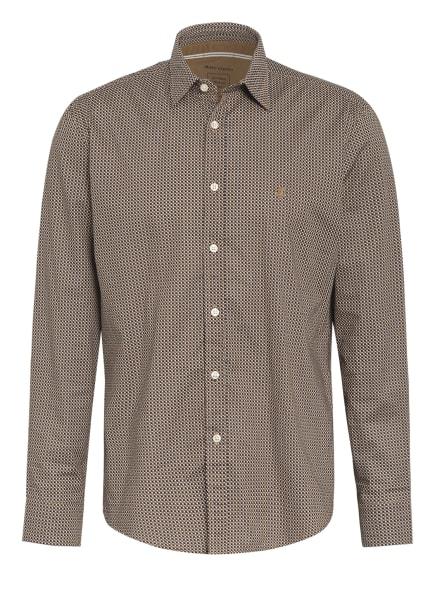 Marc O'Polo Hemd Regular Fit, Farbe: DUNKELBLAU/ HELLBRAUN/ WEISS (Bild 1)