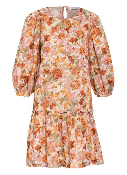 rich&royal Kleid mit 3/4-Arm , Farbe: ECRU/ HELLGRÜN/ ROSA (Bild 1)