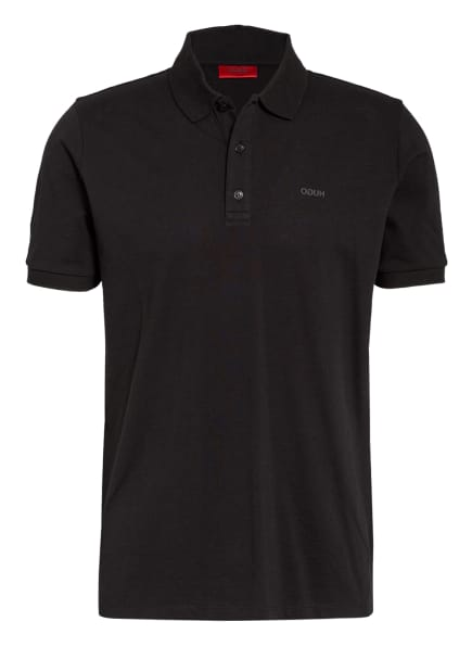 HUGO Piqué-Poloshirt DONOS Regular Fit, Farbe: SCHWARZ (Bild 1)