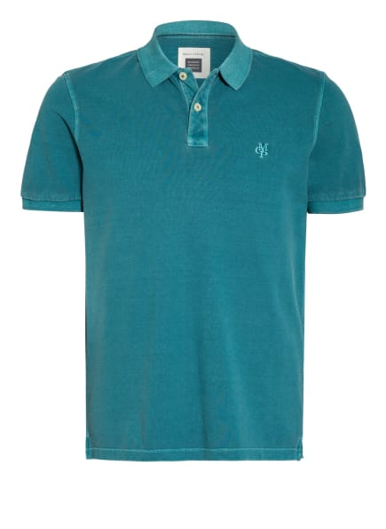 Marc O'Polo Piqué-Poloshirt, Farbe: PETROL (Bild 1)