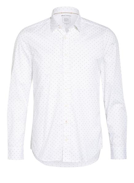 Marc O'Polo Hemd Slim Fit , Farbe: WEISS/ OLIV (Bild 1)