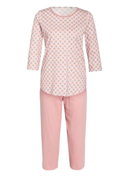 CALIDA 3/4-Schlafanzug LOVELY NIGHTS , Farbe: ROSÉ/ WEISS/ HELLBLAU (Bild 1)