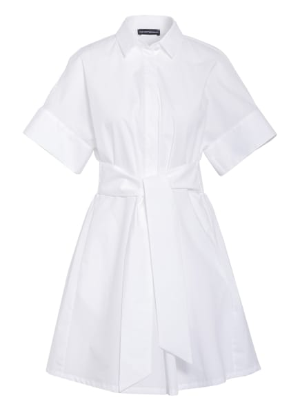 EMPORIO ARMANI Hemdblusenkleid, Farbe: WEISS (Bild 1)