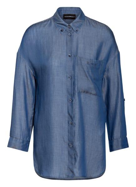 EMPORIO ARMANI Hemdbluse in Jeansoptik, Farbe: BLAU (Bild 1)