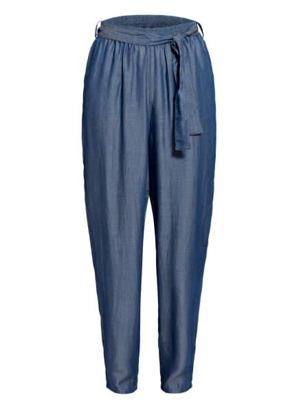 EMPORIO ARMANI Paperbag-Hose in Jeansoptik, Farbe: BLAU (Bild 1)