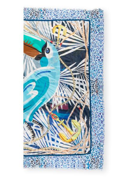 CODELLO Tuch, Farbe: WEISS/ HELLBLAU/ GELB (Bild 1)