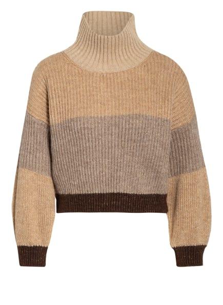 RINASCIMENTO Pullover, Farbe: BEIGE/ GRAU/ DUNKELBRAUN (Bild 1)