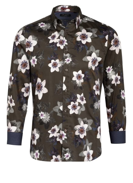 TED BAKER Hemd DOUGH Slim Fit, Farbe: KHAKI/ WEISS/ DUNKELBLAU (Bild 1)